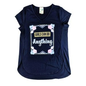 Lily Bleu Kid's Graphic Tee Glitter Floral L (14)